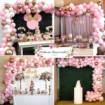 DIY Organic Balloon Arch – Pink, White & Gold
