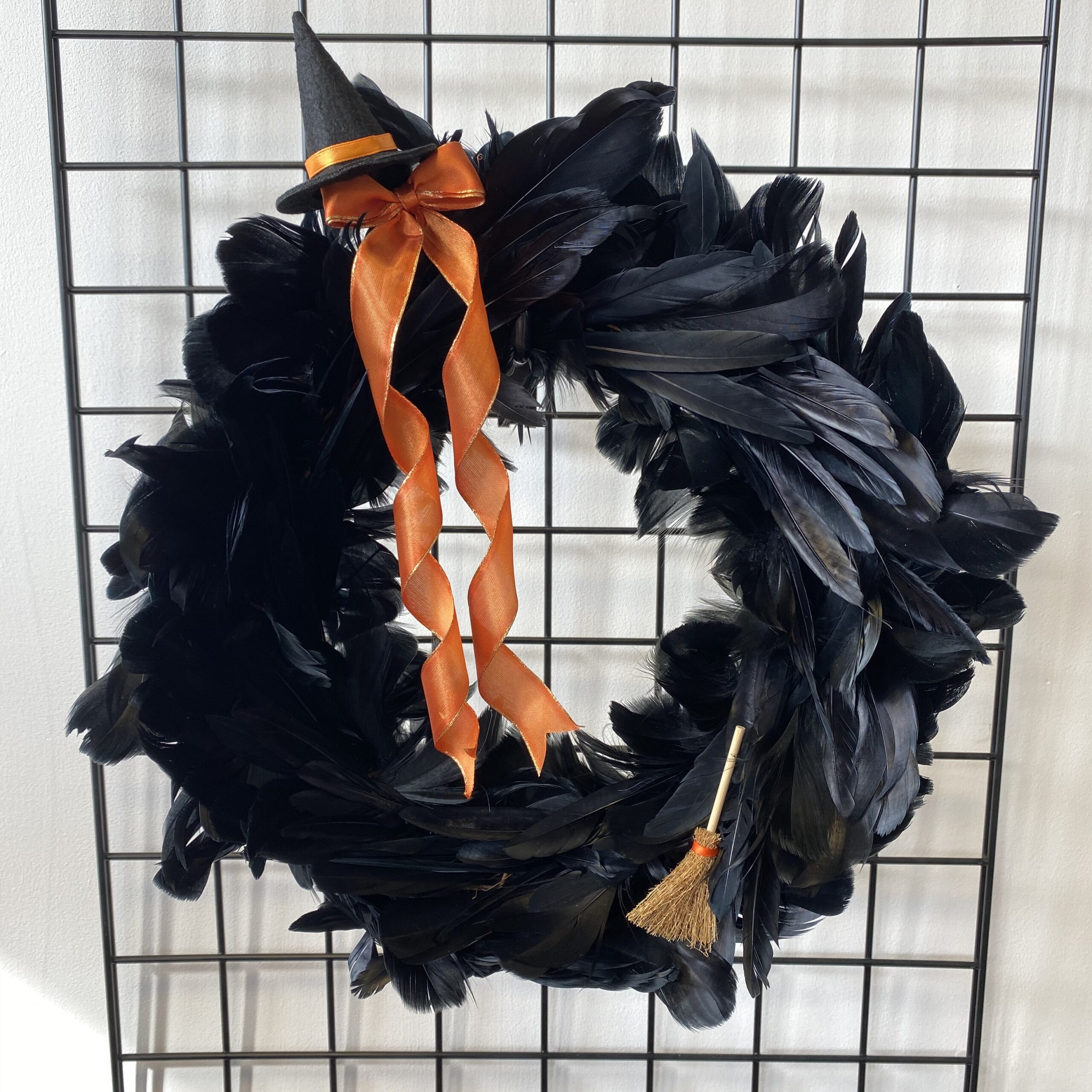 Black Feather Halloween Wreath