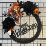 Orange Happy Halloween Wreath